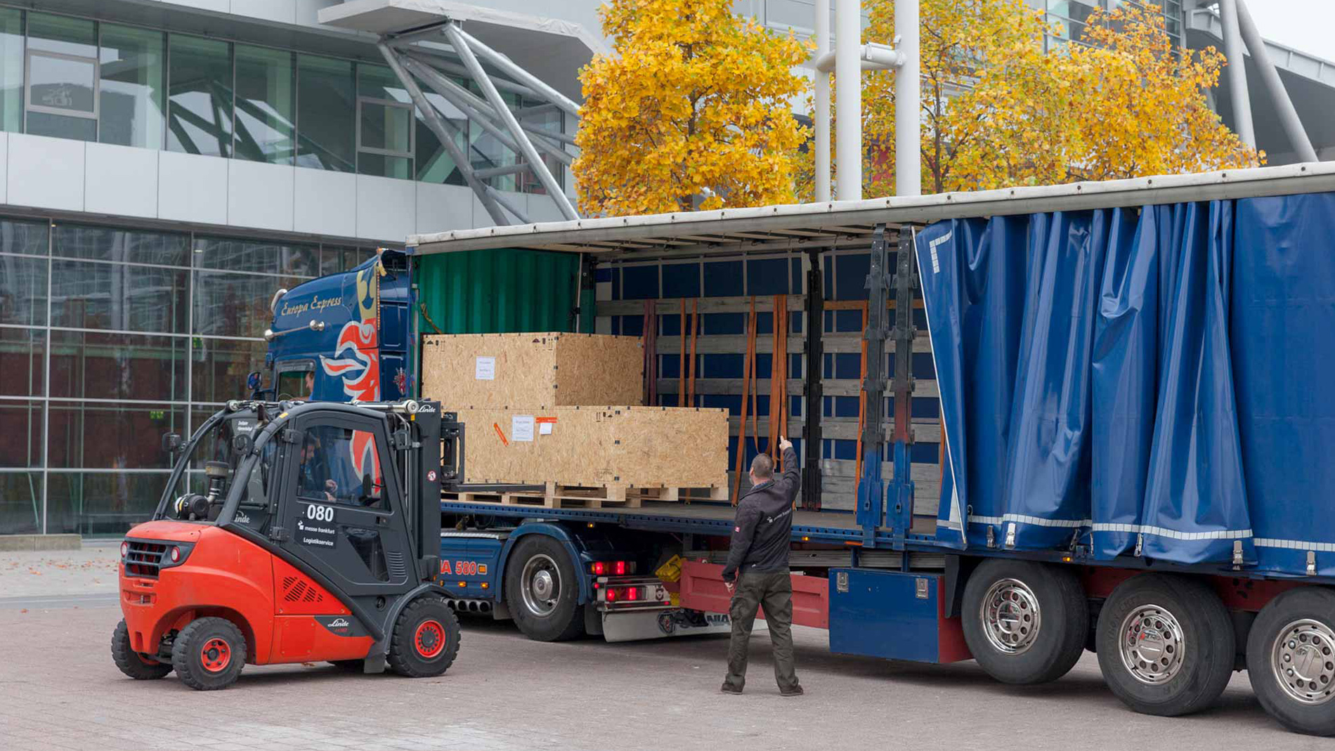 Logistics services at Messe Frankfurt