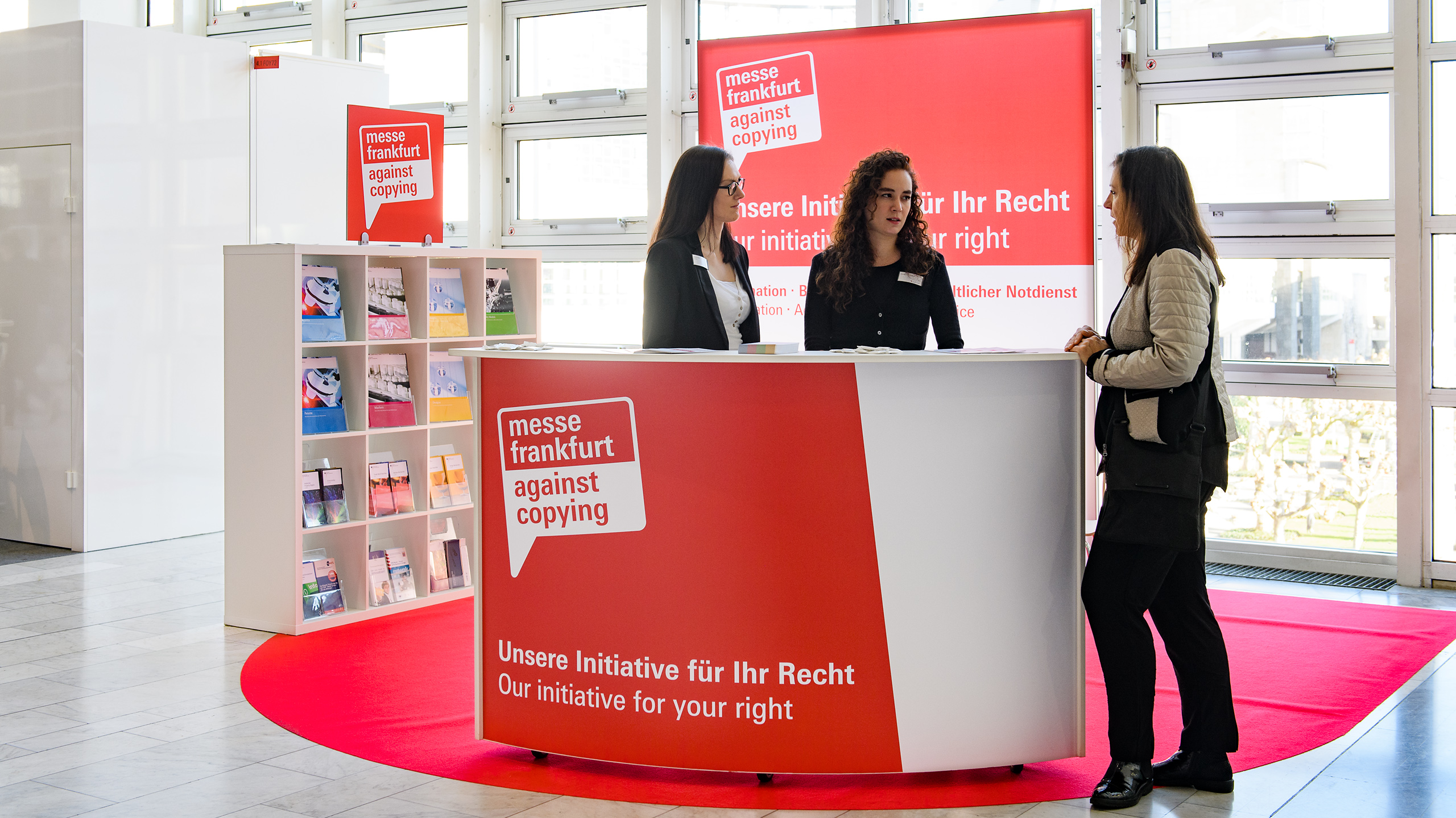 Messe Frankfurt against Copying booth