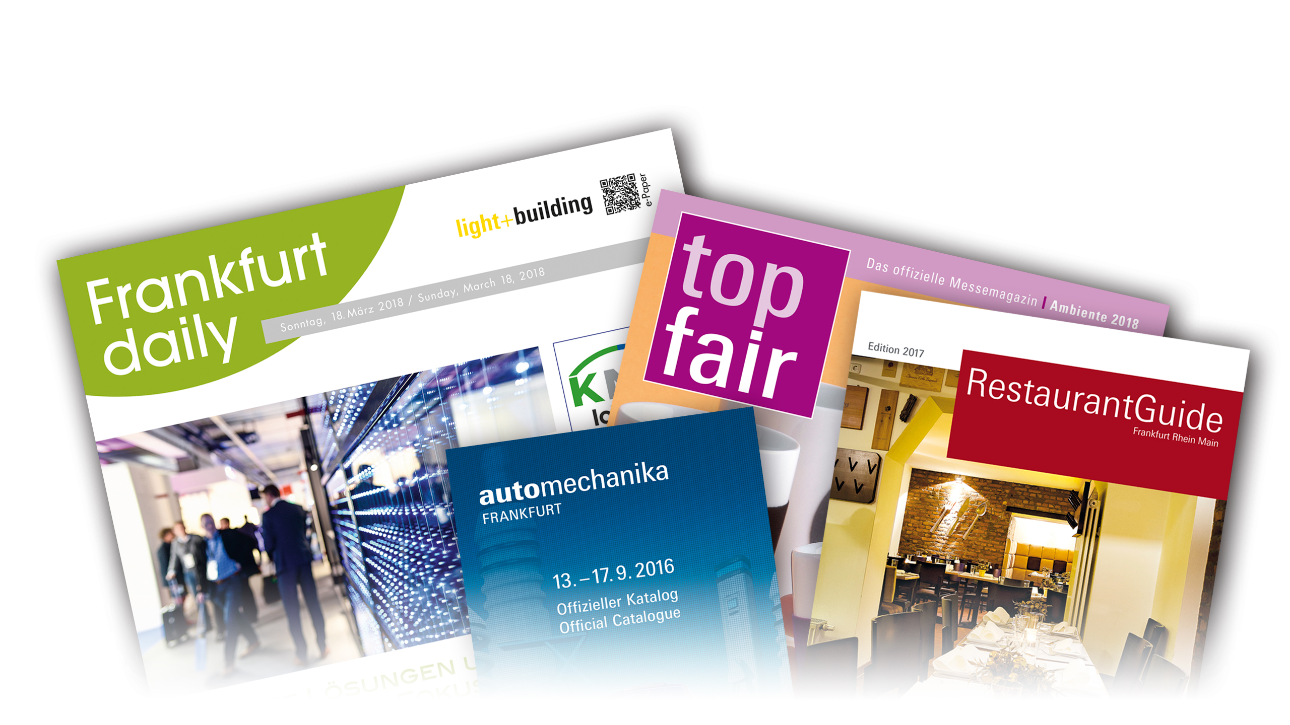 Publications from the Messe Frankfurt publishing department