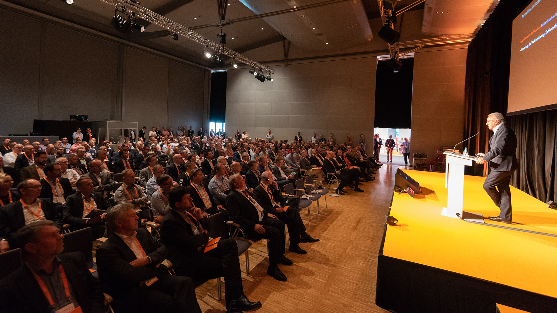 E2 Forum Frankfurt 2018: Forum of innovations, impulses and contacts for around  420 experts for vertical and horizontal mobility in tomorrow's buildings (Image: Messe Frankfurt GmbH / Sandra Gätke)