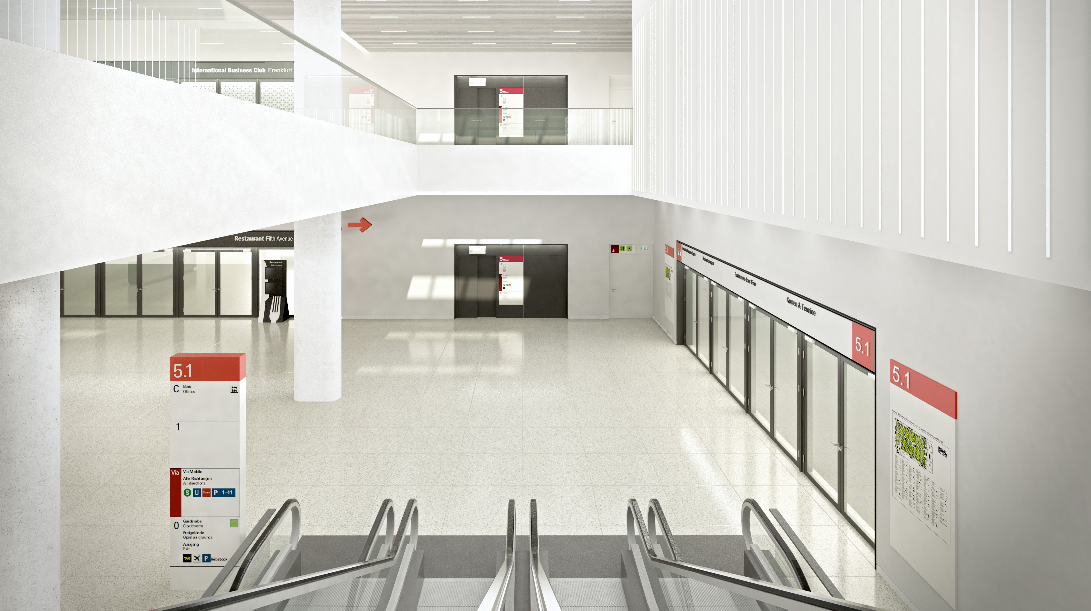 Rendering Hall 5 foyers  (non-binding)